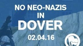 Douvres : antifas anglais et français unis contre les néonazis samedi 2 avril
