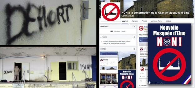 """""""France toujours, orthographe, jamais…"""" : graffitis et page Facebook des pieds nickelés du PNF…"""