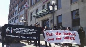 """""""Québec emmerde le Front national"""" : les antifas accueillent Marine Le Pen comme il se doit"""