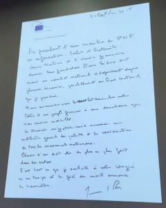 La lettre de Jean-Marie