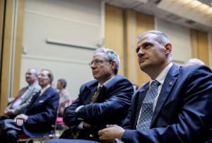 Gandillon et Benedetti au congrès fondateur du PNF (photo : Vincent Jarousseau)