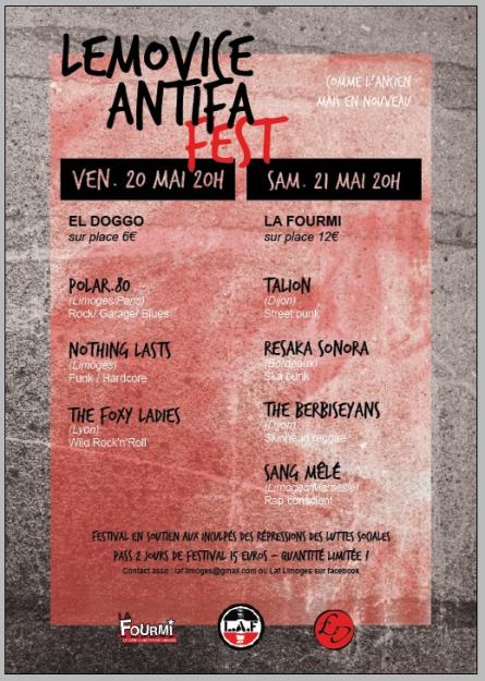Limoges : Lemovice Antifa Fest @ El Doggo | Limoges | Aquitaine Limousin Poitou-Charentes | France