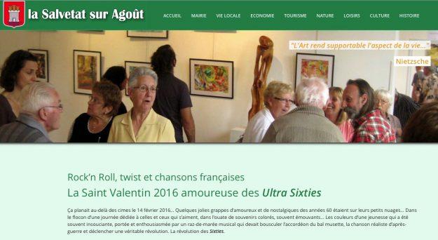 Sur le site de la mairie, Ultra Sixties est à l'honneur…