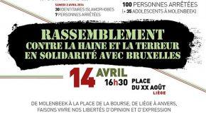 Liège : manif anti-Pegida et entartage