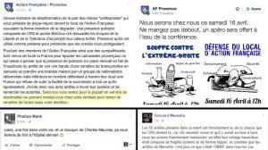 L'Action française aime menacer physiquement (sur Internet) celles et ceux qui s'oppose à elle.
