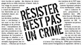 L'antifascisme face à la répression depuis le début des années 2000