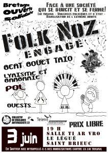 Saint Brieuc : FOLK NOZ pour une Bretagne Ouverte et Solidaire @ Ti ar vro | Saint-Brieuc | Bretagne | France