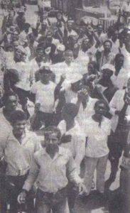 Manifestation à Pointe-à-Pitre, mai 1967.