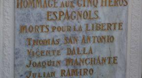 Castelnau sur Auvignon : hommage aux antifascistes espagnols