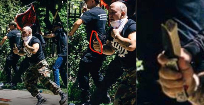 La preuve par l'image : les néonazis avaient bien des couteaux…
