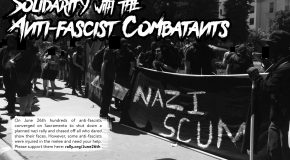 États-Unis : solidarité avec les antifascistes de Sacramento