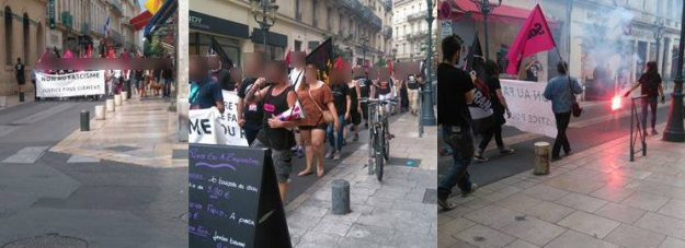 Photos : Action antifasciste Nîmes