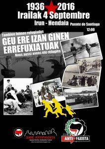 Hendaye : rassemblement pour rappeler que le Pays Basque est une terre d'accueil pour des centaines de personnes @ pont Santiago | Hendaye | Aquitaine-Limousin-Poitou-Charentes | France
