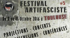 Toulouse : 5e festival antifasciste du 8 au 15 octobre