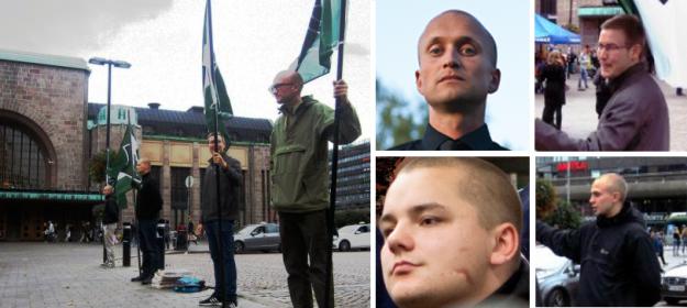 De haut en bas et de gauche à droite : Otto Rutanen, Arttu Pylkkänen, Jesse Eppu Torniainen et Tomi Tiihonen.