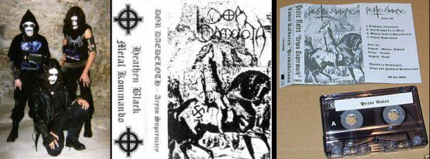 La première demo de PN, Aryan Supremacy, d'abord diffusé sous un autre nom. À gauche, le groupe Dor Daedeloth.