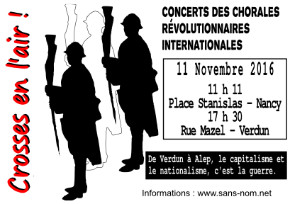 Nancy : concerts des chorales révolutionnaires internationales @ Nancy | Alsace-Champagne-Ardenne-Lorraine | France