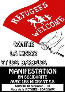 Bordeaux : manifestation de soutien aux migrants @ Bordeaux | Nouvelle-Aquitaine | France