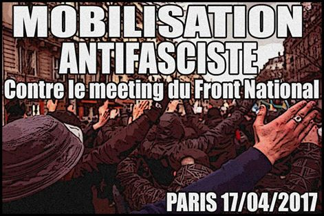 Paris : mobilisation antifasciste contre le meeting du Front national