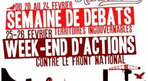 Nantes : semaine de résistances et week-end d'actions contre le FN