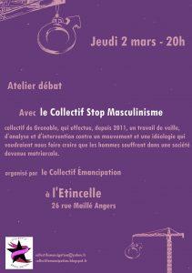 Angers : soirée contre le masculinisme @ l'Étincelle | Angers | Pays de la Loire | France