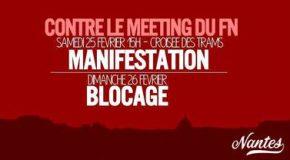 Nantes : bolosser le FN (opération escargot, appel à nasser le Zénith, funérailles nazionales, manif,…)