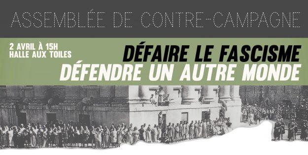 Rouen : assemblée de contre-campagne @ Halle aux Toiles | Rouen | Normandie | France