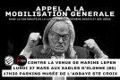 Les Sables d'Olonne (85) : rassemblement contre la venue de Marine Le Pen