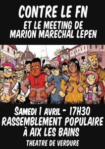 Aix les Bains : Contre le meeting de Marion Maréchal @ Aix-les-Bains | Auvergne-Rhône-Alpes | France