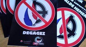Pays Basque Nord : Nouvel Autocollant Antifa