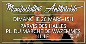 Lille : Manif contre le FN, dimanche 26 mars @ Lille | Hauts-de-France | France