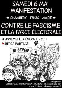 "Chambéry : manif ""ni patrie ni patron"" @ Chambéry Cedex   Auvergne-Rhône-Alpes   France"