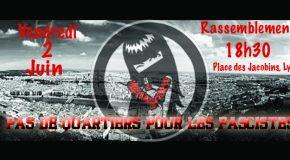 Lyon : appel à rassemblement antifasciste contre le racisme «social» du GUD