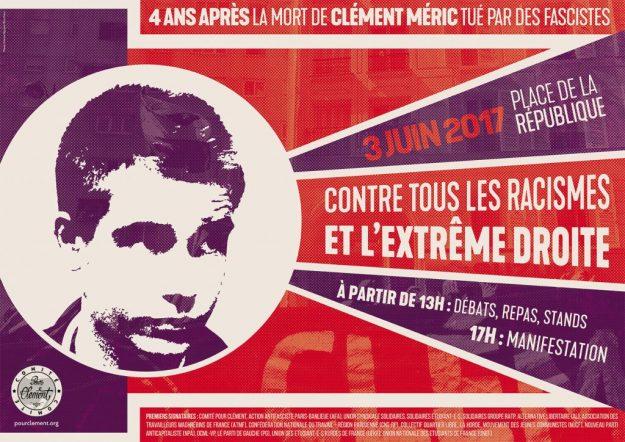 Paris : hommage à Clément, contre tous les racismes et l'extrême droite @ Paris | Île-de-France | France