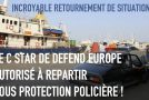 DEFEND EUROPE, protégé par la police nord-chypriote, poursuit sa route