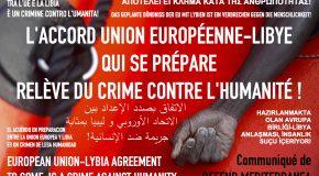 DEFEND MEDITERRANEA : « l'accord UE-Libye relève du crime contre l'humanité ! »