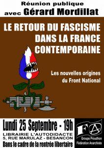 Besançon : les nouvelles origines du Front national @ Librairie L'Autodidacte | Besançon | Bourgogne Franche-Comté | France