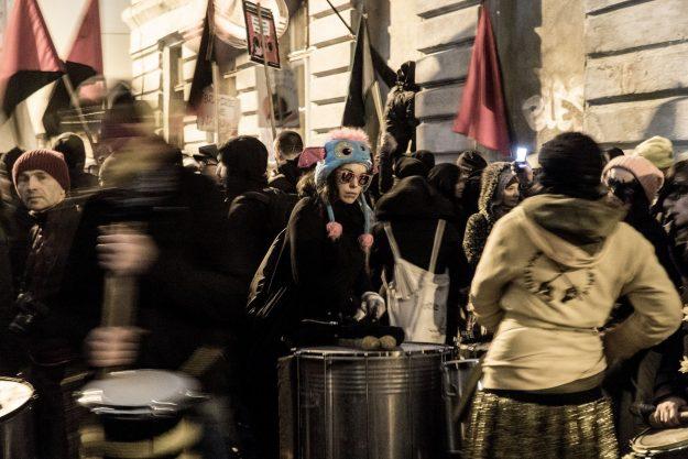 manif antifa Poznan 15 novembre 2017