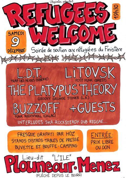 Plouneour Menez: soirée Refugees Welcome @ lieu-dit L'île  | Plounéour-Ménez | Bretagne | France