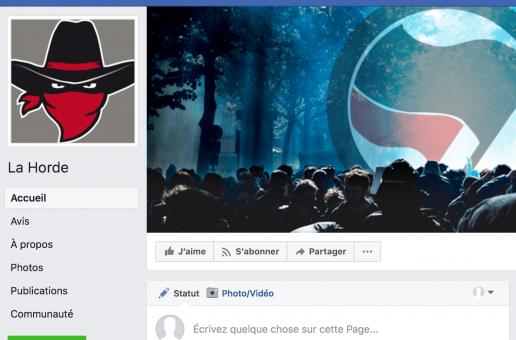 Nouvelle page Facebook de La Horde