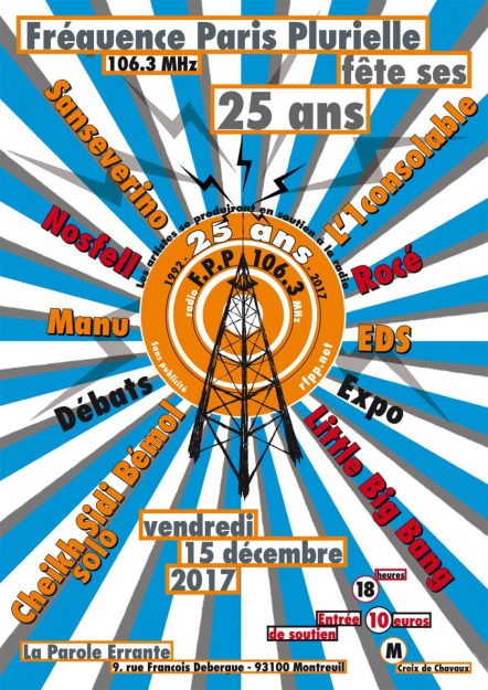 Paris : FPP fête ses 25 ans @ La Parole errante | Montreuil | Île-de-France | France