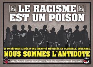poison racisme autocollant La Horde