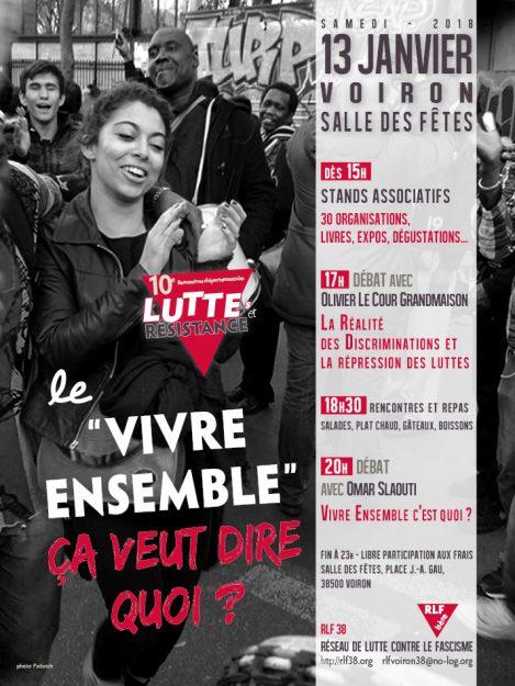 Voiron (38) : 10èmes Rencontres départementales des luttes et des résistances @ Salle des fêtes | Voiron | Auvergne-Rhône-Alpes | France