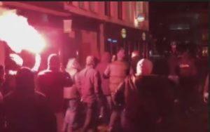 Gand Belgique hooligans d'extrême droite le 26 11 2017