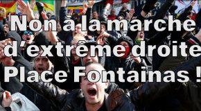 Bruxelles : Rassemblement pas de fachos dans nos quartiers ! Non à la marche d'extrême droite Place Fontainas !