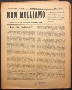 Non molliamo journal anarchiste publié à Marseille en 1927