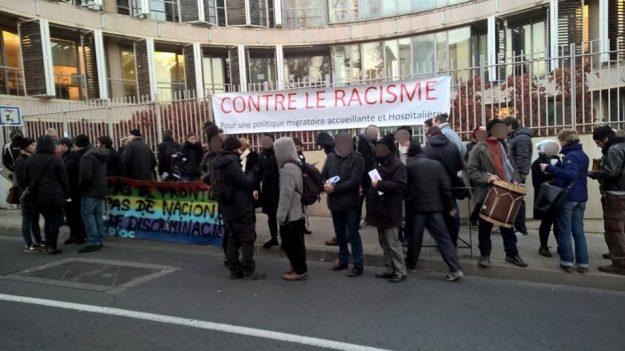rassemblement antifasciste le 05 12 2017 à Montpellier