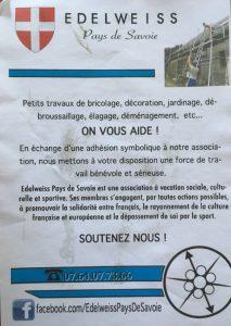 Tract d'EdelweiSS Pays de Savoie