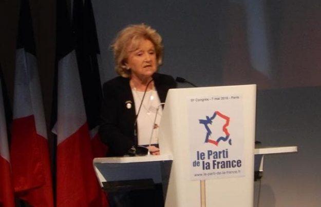 Martine Lehideux au 3e congrès du PdF en mai 2016.