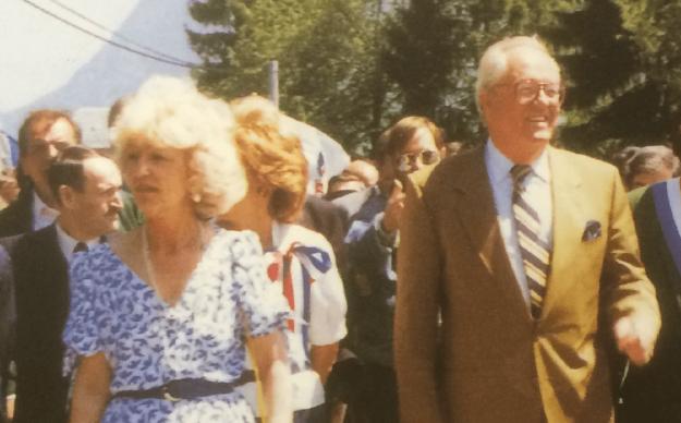 Martine Lehideux et Jean-Marie Le Pen dans les années 1990.